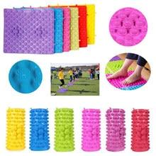 6 pçs brinquedos de integração sensorial terapia acupressure pé reflexologia esteira caminhada massagem ao ar livre divertido puzzle jogos jogar tapetes