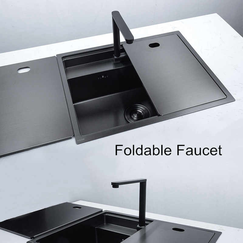 hidden kitchen sinks with folded faucet kitchen sink stainless steel double bowl above bar counter undermount laundry sink