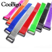 12pcs/lot nylon Reverse buckle velcros magic hook loop fastener cable ties velcroing strap sticky Line finishing