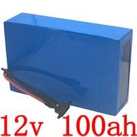 12V 100Ah Lithium battery 12V 100AH electric bicycle battery 12V 100ah Lithium ion battery with 12.6V 10A charger free duty