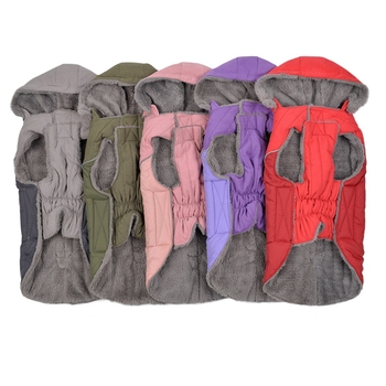 Autumn Winter Pet Hoodie Thicken Dog Cotton Coat Warm Flannel Jacket For Small Medium Large Dogs Multi-size Soft Clothes - discount item  32% OFF Pet Products
