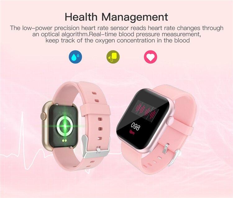 H7b95327ddf03411da26135ed3ddbca82K Oxygen Monitor Smart Watch 2020 Blood Pressure Smartwatch