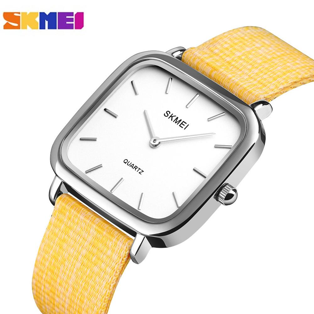 SKMEI Japanese Movement Simple Women Watches Casual Ladies Quartz Wristwatches Female Clock Relogio Feminino 1555 10 Kinds Color