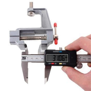 Srebrny 30mm Mini imadło ze stopu aluminium imadło stołowe DIY formy rzemieślnicze naprawa narzędzia tanie i dobre opinie CN (pochodzenie) Instrukcja 890973 Ławka vise