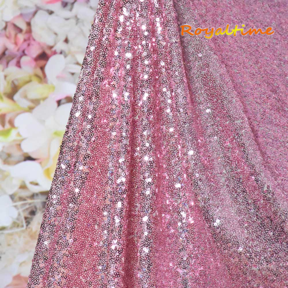 Pink Gold Sequin Fabric 002