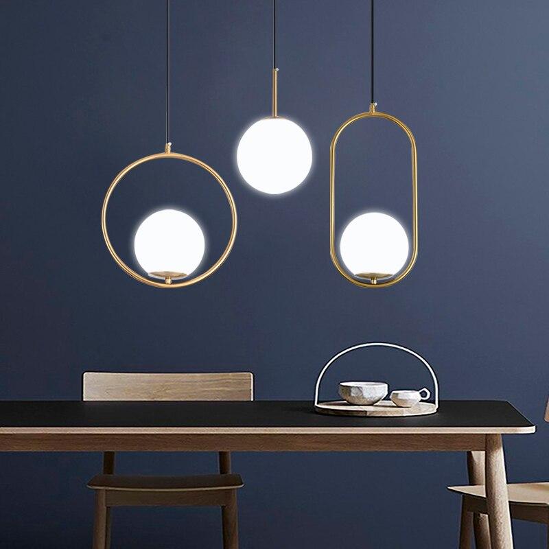 DX الحديثة غرفة المعيشة/غرفة نوم/الحد الأدنى/مطعم قلادة ضوء الشمال الملابس الديكور الزجاج مصباح قلادة كروية
