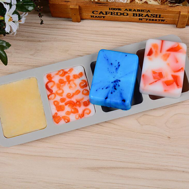 FDA-certified Silicone Multi-function Soap Mold DIY Handmade Craft 3D Kitchen Making Forms Baking Soap Mould For Soap Making