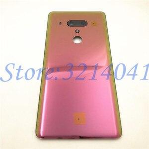 Image 3 - חדש מקורי 6.0 סנטימטרים עבור HTC U12 בתוספת חזרה סוללה כיסוי אחורי דלת פנל זכוכית שיכון מקרה עם לוגו