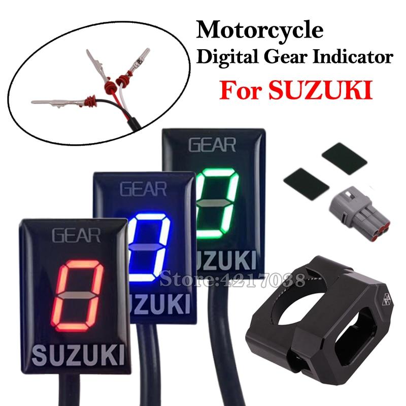 Motorcycle 1-6 EFI Speed Gear Indicator Aluminum ECU Gear For SUZUKI GSX-R750 GSX-R1000 GSX1400 M800 DL650 GSF650 VZ1500 RM-Z250