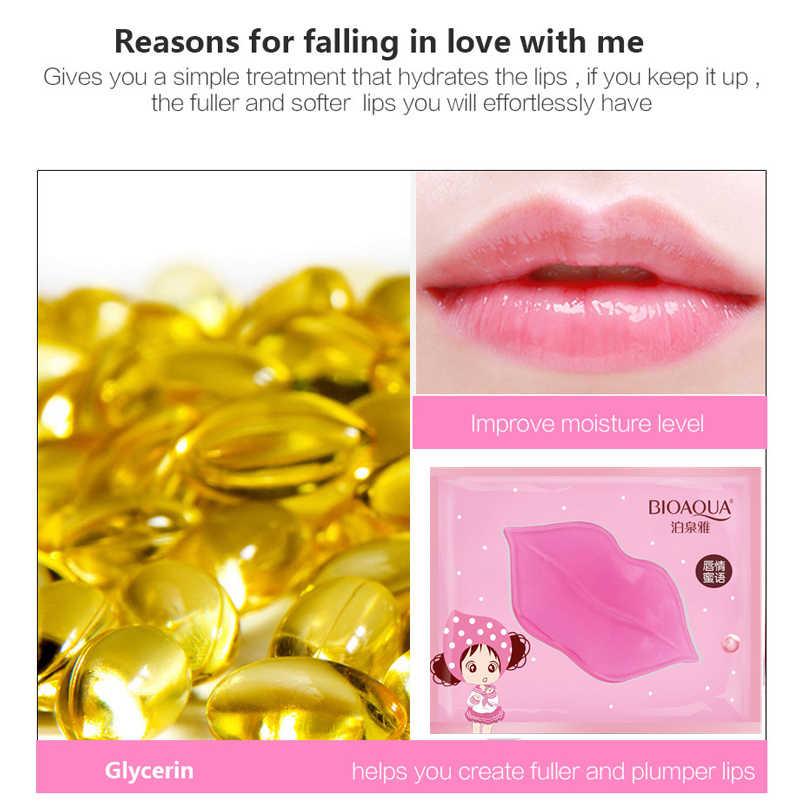 1PC שפתיים ג 'ל מסכת קריסטל קולגן לחות שפתיים לחות מסכת פנים תיקון להסיר קווים פגמים להאיר שפתיים טיפוח עור MJ3