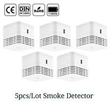 цена на CPVan 5pcs/Lot smoke detector CE Certified EN14604 smoke sensor fire alarm 5 years battery detector 85dB for home security
