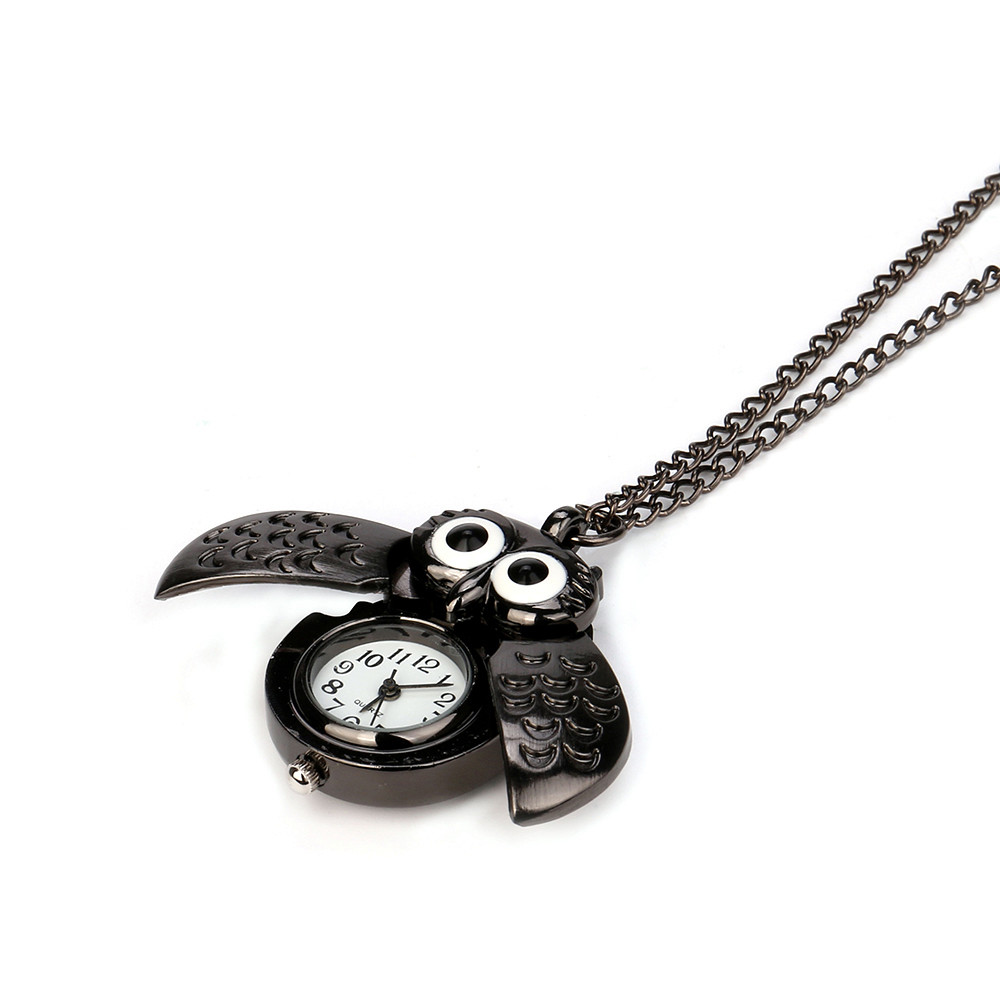 H7b95df24c5854722916ad7285b7369cbh - Pocket Watch Vintage Style Retro Slide Owl Pendant Long Necklace Analog Pocket Watch Gift Bundy Party Watch gift