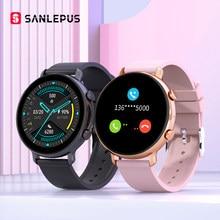 SANLEPUS 2021 Smart Uhr Bluetooth Anrufe Männer Frauen Wasserdichte Smartwatch EKG PPG Fitness Armband Band Für Android Apple Xiaomi