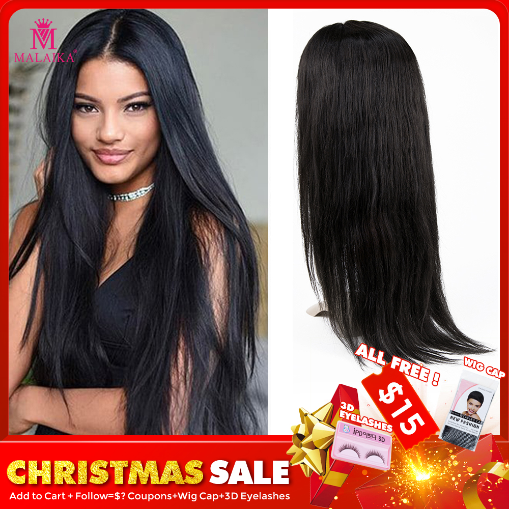 Glueless Full Lace Human Hair Wigs Pre Plucked 100% Human Hair Wigs For Black Women Indian Straight Wig MALAIKA Hair