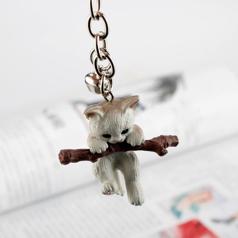3D Cat Keychain Cute Key Ring For Women Kitten Lucky Cat Key Chain Key Holder Creative Portachiavi Chaveiro Llaveros Bag Charm