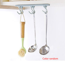 Kitchen Cupboard 6 Organizer Hook Pantry Chest Tools Towels Hanger Wardrobe Clothes Storage Shelf(China)