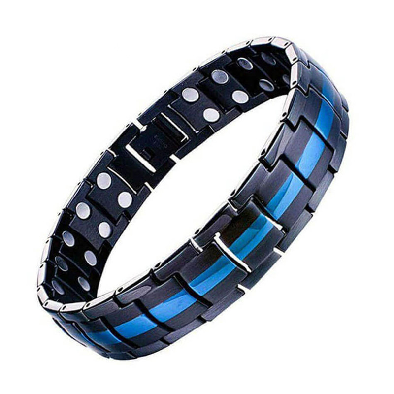 Magnetic Stainless Steel Bracelets For Men Woman Elements Magnet Power Pure Copper Bracelet Healing Lovers' Hand Chain Jewelry