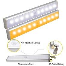 купить LED Under Cabinet Light PIR Motion Sensor Lamp LED Cabinet Light LED Light Bar Lights Wardrobe Cupboard Closet Night Lights D35 онлайн