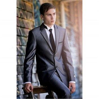 New Men's Suit Smolking Noivo Terno Slim Fit Easculino Evening Suits For Men Groomsmen Tuxedos(Jacket+pant) Best Man Blazer