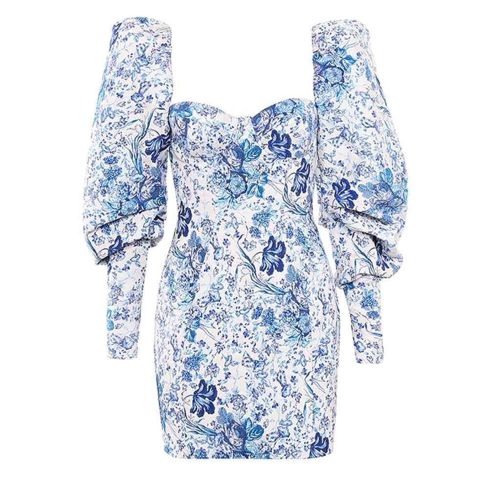 Женское модное облегающее платье с длинными рукавами, обтягивающее бедра и ягодицы, мини-Вечерние Платья