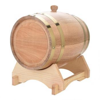 Barril de madera de roble de madera Vintage 5L para cerveza whisky Ron Puerto Nuevo 2019