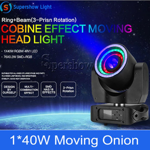 Image 5 - שלב אור הזזת ראש תאורה 1*40W RGBW 4in1 + 76*0.2W SMD RGB נע בצל עבור דיסקו אירוע בר מסיבת קישוט