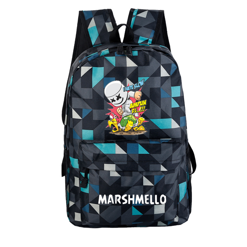 Marshmello Electronic Music Related Baida DJ Backpack A Generation Of Fat Cross-border Exclusively For Wholesale Custom