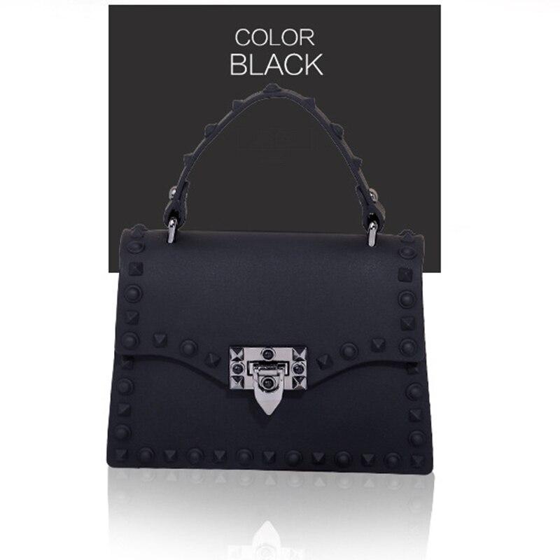 Designer Rivet Top Handle Crossbody Bags Fashion Tote Clutch Purse Jelly Handbags for Women 1
