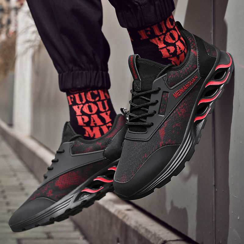 New Fashion Casual Shoes For Man Breathable Non-slip Footwear Comfortable High Quality Men Sneakers Black Red Zapatos De Hombre