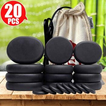 Tontin Hot Stone Massage Set Heater Relieve Stress SPA Solan Health Care Lava Basalt round massage tool Stones CE RoSH недорого