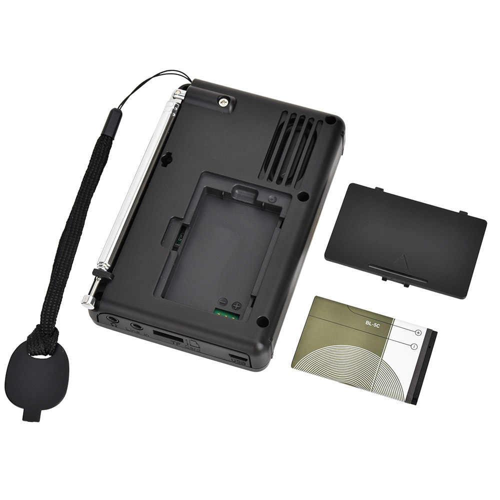 K-603 Volledige Band Radio Bluetooth Fm Am Sw Draagbare Pocket Radio MP3 Digitale Rec Recorder Ondersteuning Micro Sd Tf Card sleep Timer