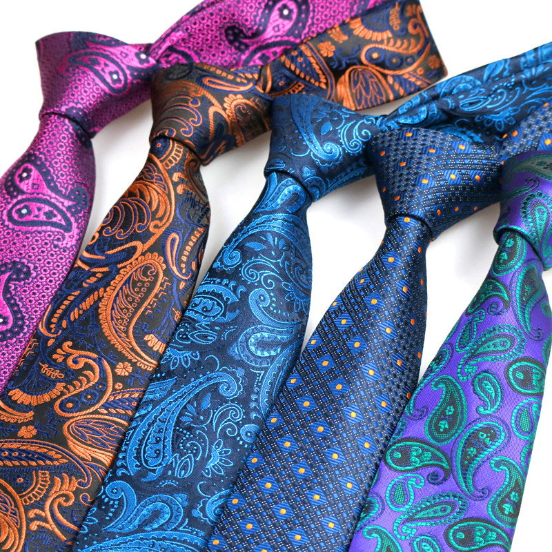 YISHLINE Mens Tie Brand Designs 7CM Floral 1200 Needles Man Neck Ties Neckwear Bridegroom  Wedding Tie For Shirt Men Accessories