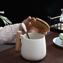 Mug Tea-Cup Drinkware Coffee-Mugs Wooden-Handle Office Nordic-Style with Home Ceramic