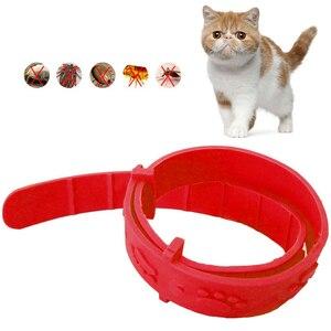 Adjustable Pet Dog Cat Flea Collar Anti Flea Tick Mite Louse flea Collar Rubber Necklace Pet Protect Pet Supply(China)