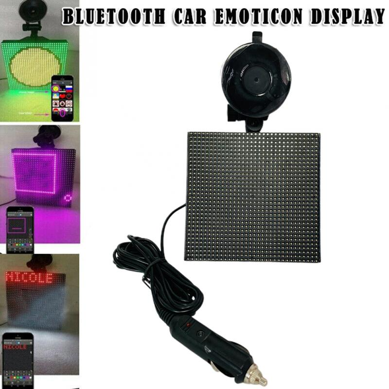 Full color wireless Bluetooth App control car LED display Emoji smiley face LED car sign LED shop sign Adjustable Real-Time Draw exhaust tips on jaguar xe