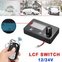 Ar estacionamento lcd interruptor diese controle remoto 8x5x1.6cm carro plástico preto