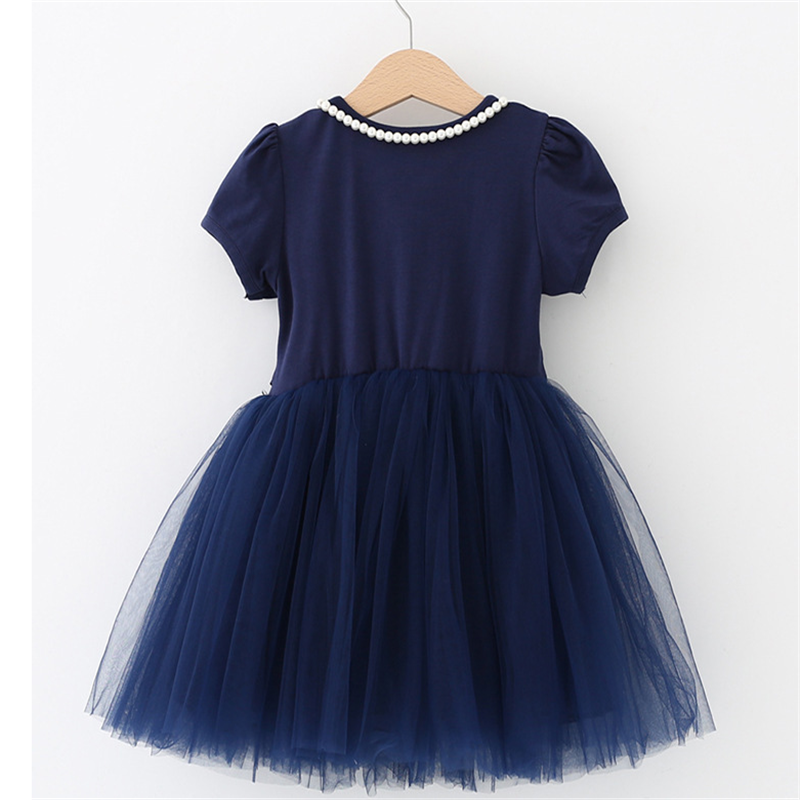 Summer Kids Dresses For Girls short Sleeve Children Clothing Tutu Girls Casual School Wear Princess Party Dress 2020 New 25 2