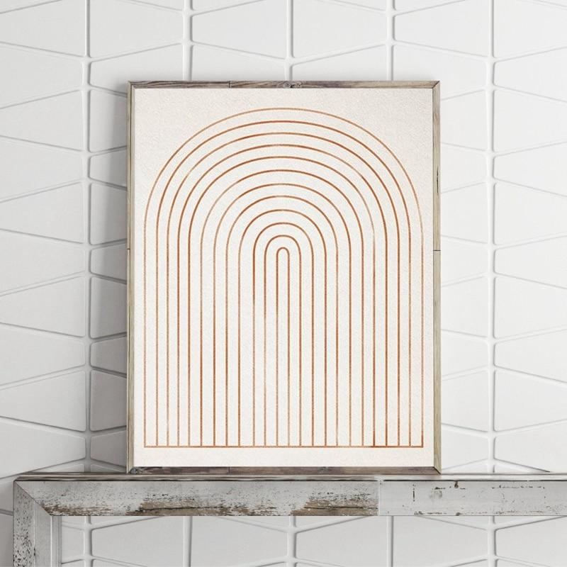 geometric minimalist canvas print