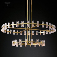 Nordic Luxury Crystal Gold Chandelier Lighting Modern Led Home Decor Lighting Fixtures Large Crystal Hotel Hall Hanging Lamp modern crystal chandelier big lamp led hanging lighting large glass globe glass chandeliers luxury stair crystal chandelier lamp