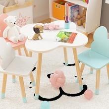 Детский стол для учебы со стульями для детского сада, игровой стол, простая установка, детский обеденный стол, обучающий стол