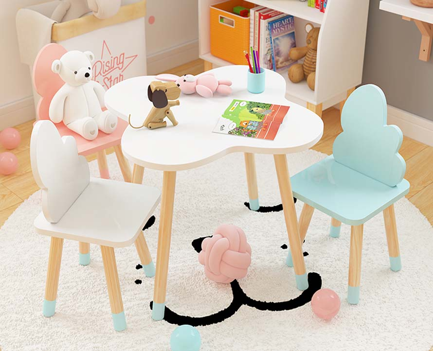 Бесплатная дос Lovely Child's Study Table With Chairs Kindergarten Games Table Easy Installation Kid Dinning Table Learning Desk