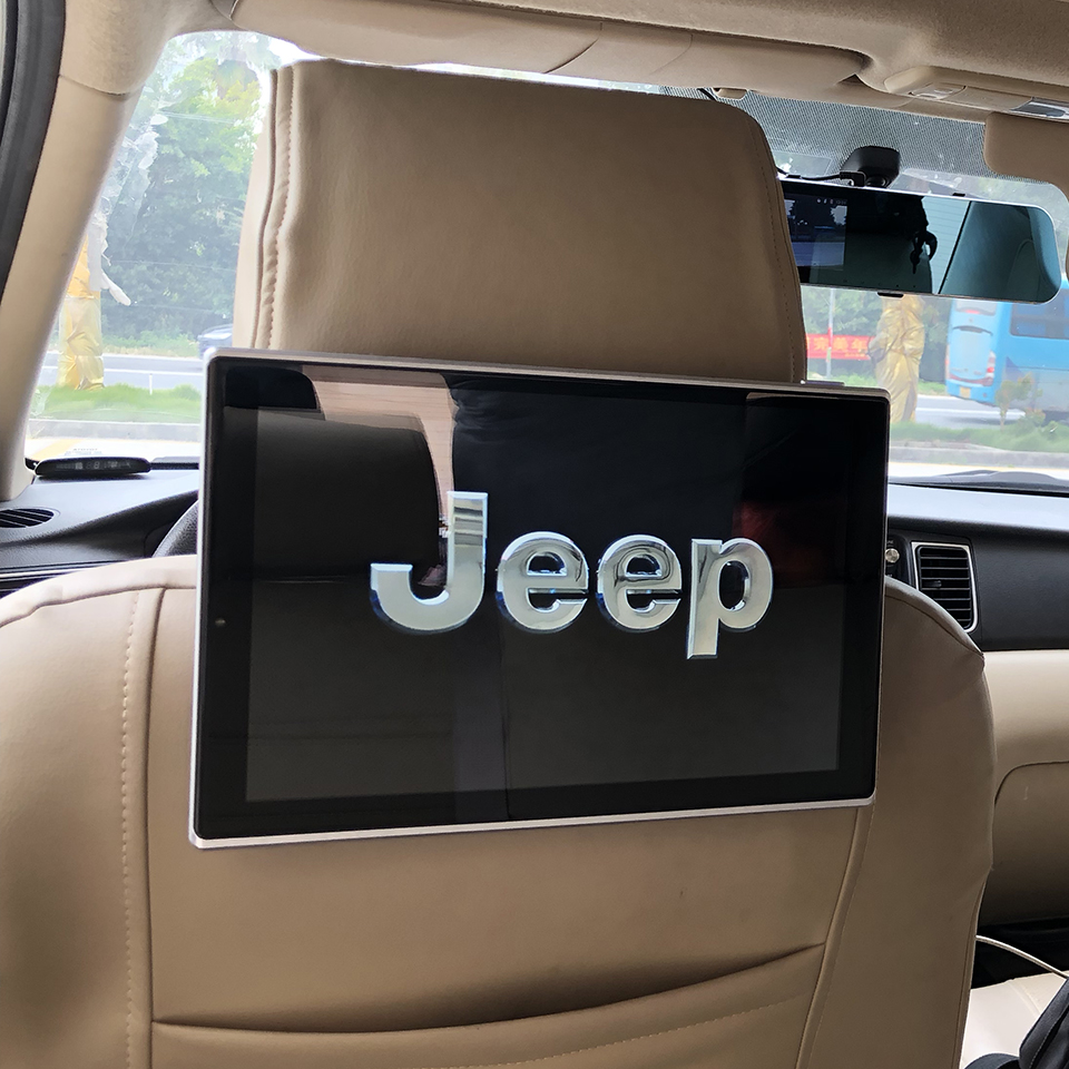 In Car Headrest DVD Player With Wireless Headphones Android Monitor For Jeep Grand Cherokee Auto TV Screen 11.8 inch image