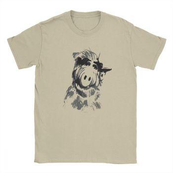 Camisetas para hombre Alf Tv commenty gordshumway Sitcom Cat Series Alien Hipster Camiseta de manga corta camisetas de algodón