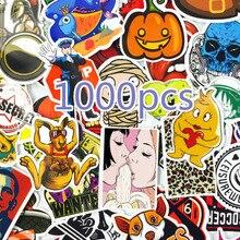 1000 قطعة مزيج نمط ملصقات الثلاجة سكيت اللعب كول JDM خربش الشارات ديكور المنزل الأمتعة سيارة التصميم الدراجة المحمول ملصق يدوي الصنع
