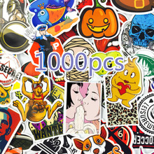 1000 PCS Mix Style Stickers Fridge Skateboard Toys Cool JDM Doodle Decals Home Decor Luggage Car Styling Bike Laptop DIY Sticker