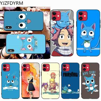 Happy Felice Fairy Tail Phone Case for iphone 12 pro max 11 pro XS MAX 8 7 6 6S Plus X 5S SE 2020 XR case image
