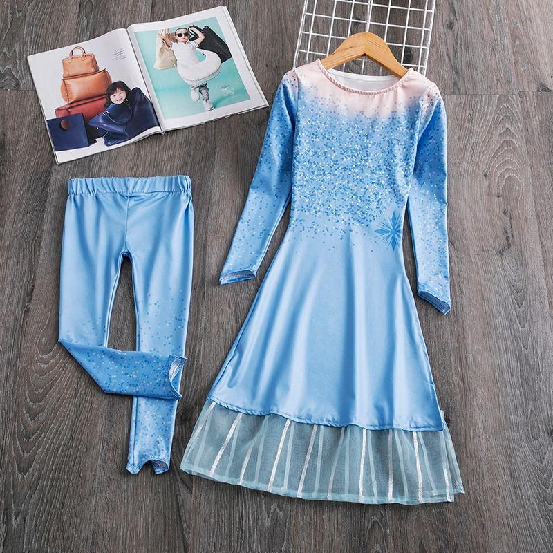 H7b987e788550468e9c1ff2b7705d259bu Cosplay Queen Elsa Dresses Elsa Elza Costumes Princess Anna Dress for Girls Party Vestidos Fantasia Kids Girls Clothing Elsa Set