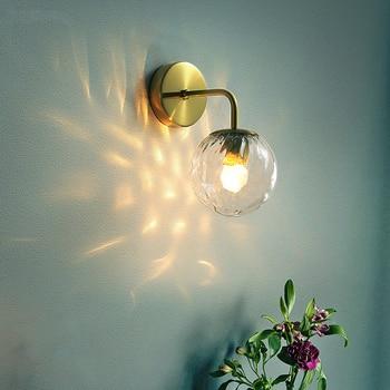 цены Modern Wall Lamp Glass Ball Retro Wall Light Bedroom Bedside Lamp Restaurant Aisle Corridor Wandlamp Wall Sconce Light Fixture