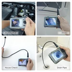 "Image 5 - NTS150 720P HD Endoscope Inspection Camera 3.5"" LCD Monitor7.6mm Diameter 1M Tube 32GB DVR Borescope Zoom Rotate 6 LEDS 1.0MP"