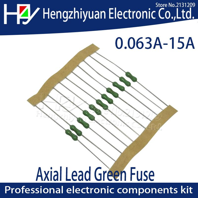 10Pcs Yellow Ceramic Resistor Fuse Time-Lag Metal Axial Lead Fuse 2.4x7mm 5A US